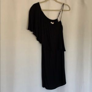 Ella Moss Black One Shoulder Dress